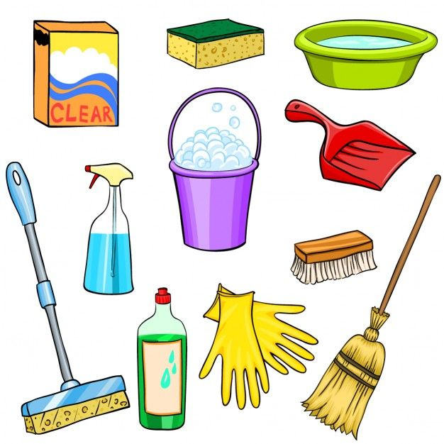 Cleaning elements Free Vector.
