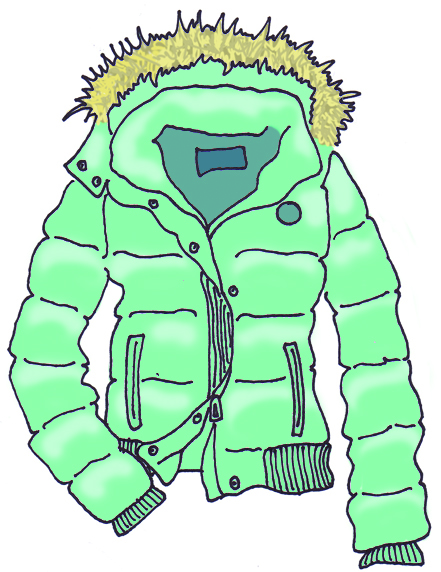 421 Winter Coat free clipart.