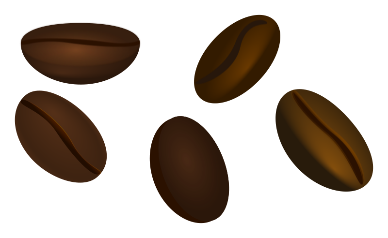 Free Clipart: Coffee beans.