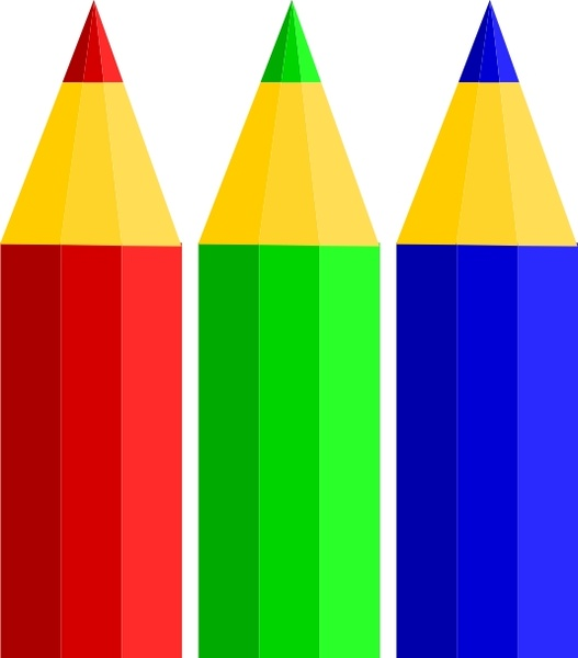 Color Pencils clip art Free vector in Open office drawing.