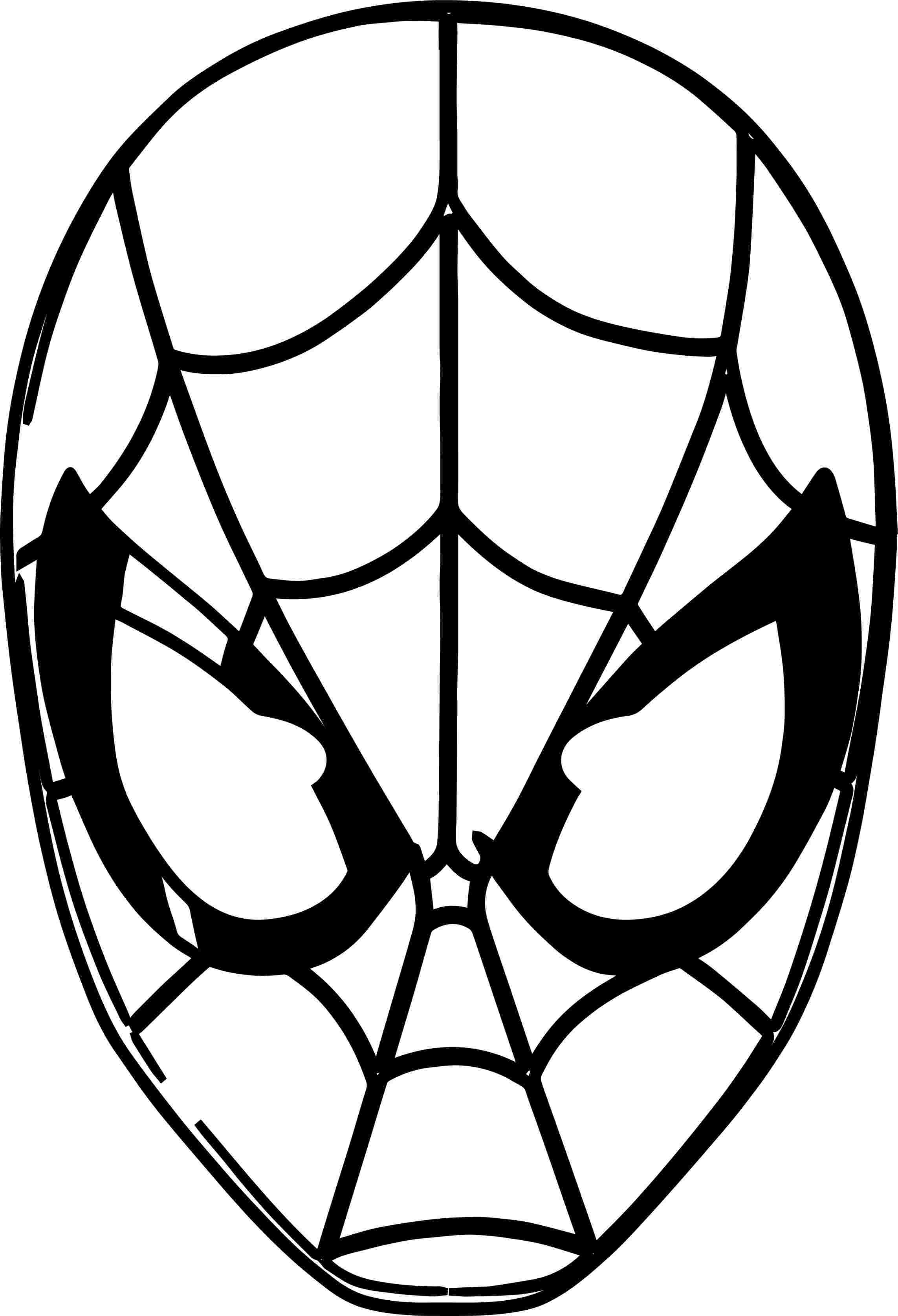 printable spiderman mask coloring pages super hero mask.