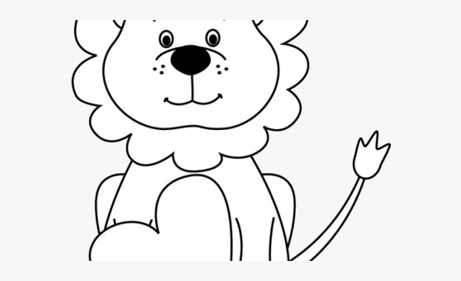 Free White Lion Clipart.