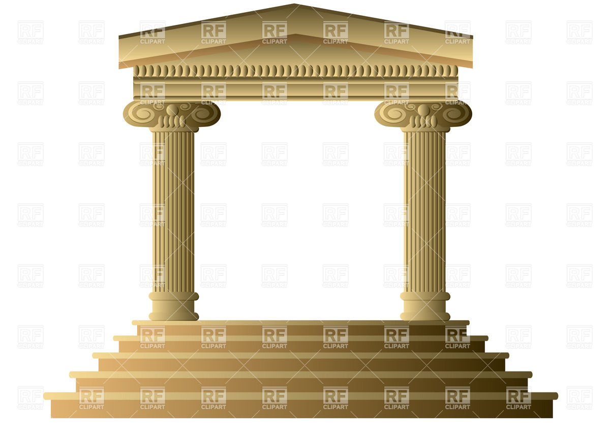Ancient columns Vector Image #25566.