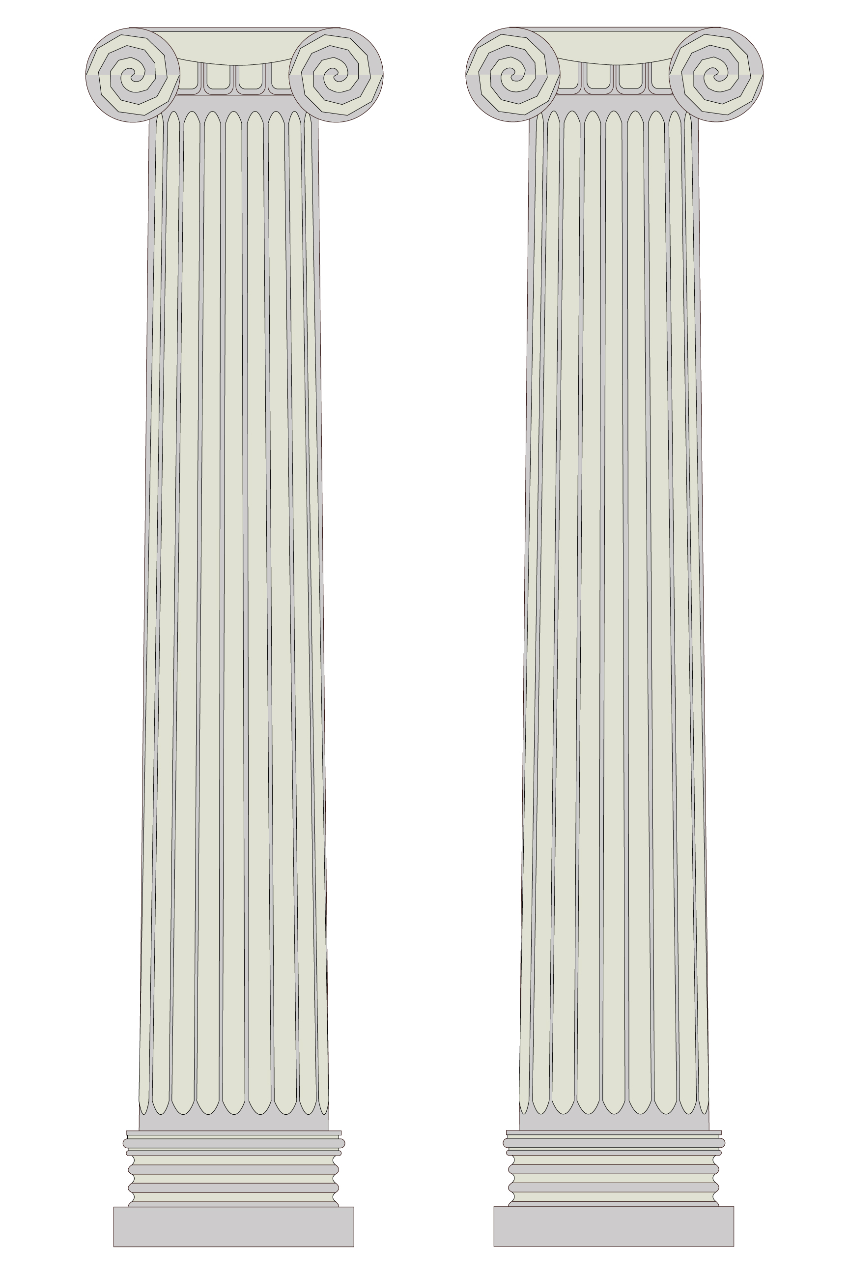 Greek Columns Vector.
