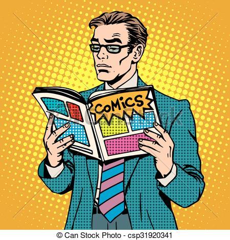 free clipart comic book man - Clipground