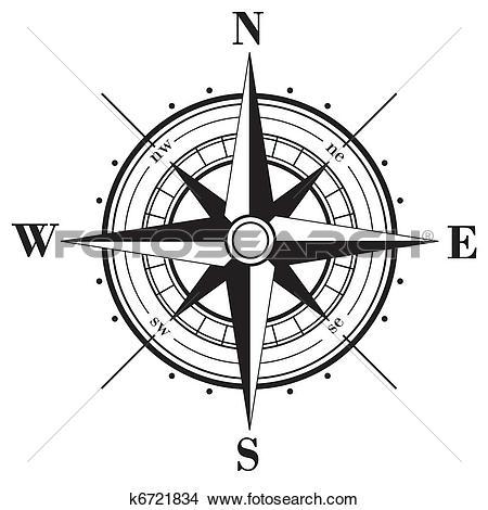 Clip Art of Compass symbol k2980149.