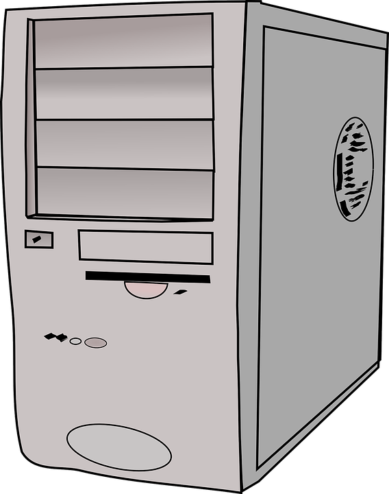 Free vector graphic: Computer Tower, Server, Hard Drive.