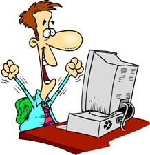 Clipart Computer User.