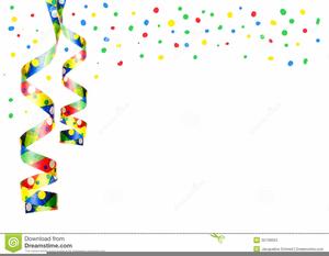 Confetti Streamers Clipart.