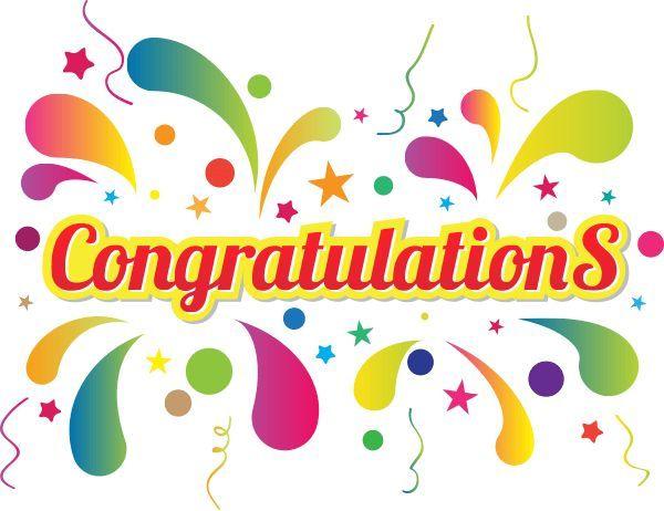 1165 Congratulations free clipart.