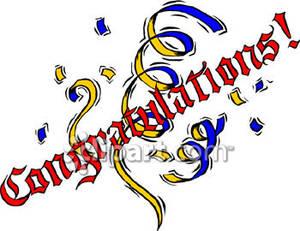 Congratulations Sign With Confetti.