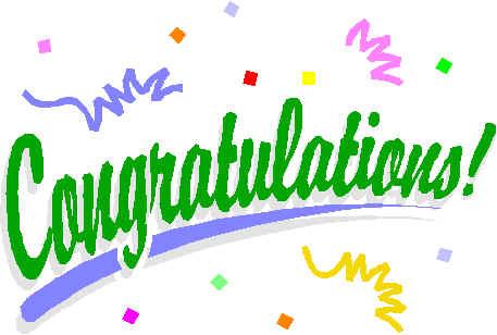 1175 Congratulations free clipart.