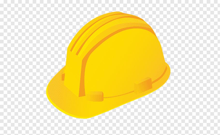 Yellow hard helmet, Hard hat Helmet Architecture, yellow.