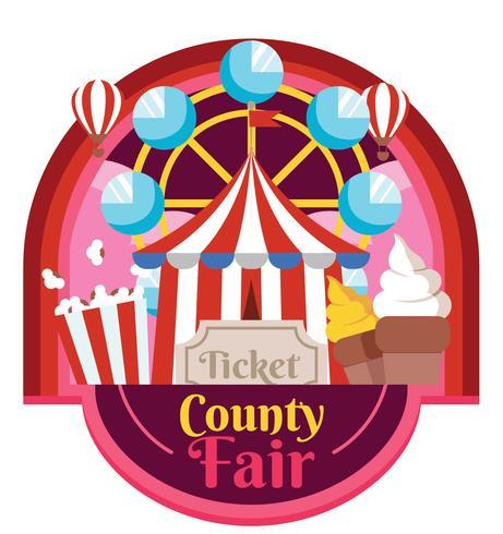 Country Fair Vector Design.