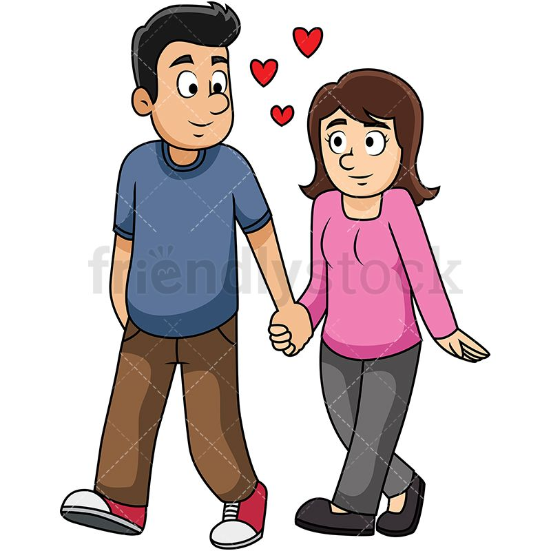 Couple Holding Hands While Walking.