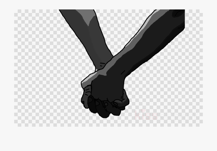 Couple Holding Hands Clipart Finger Black And White.