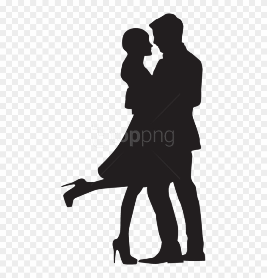 Free Png Download Couple In Love Silhouette Png Png.