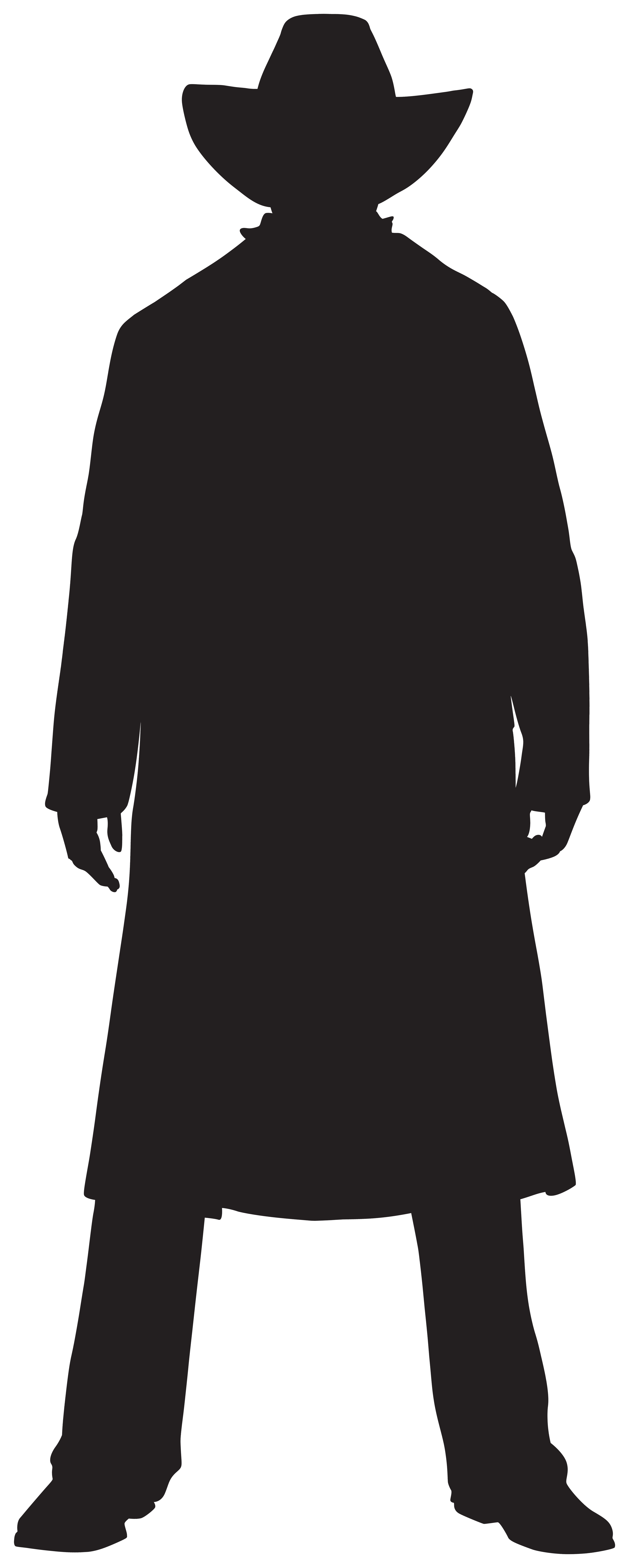 Wild West Cowboy Silhouette PNG Clipart.