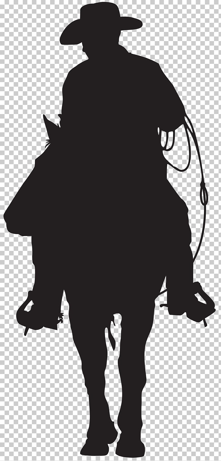 American frontier Cowboy Silhouette , cowboy PNG clipart.