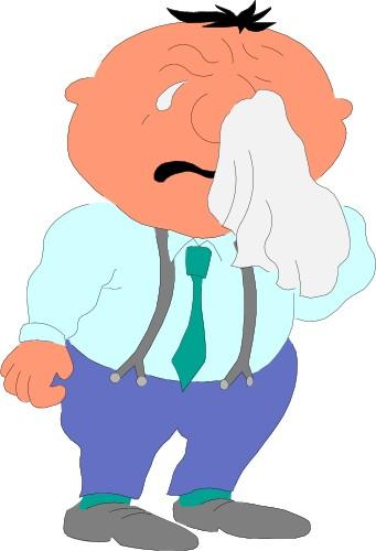 Crying Man Cartoon.