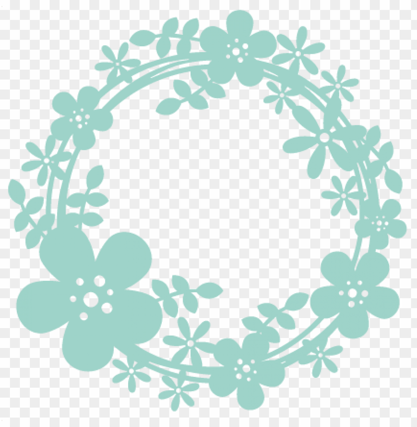 spring wreath sbook cut file cute clipart files for.