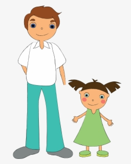 Free Dad And Daughter Clip Art with No Background.