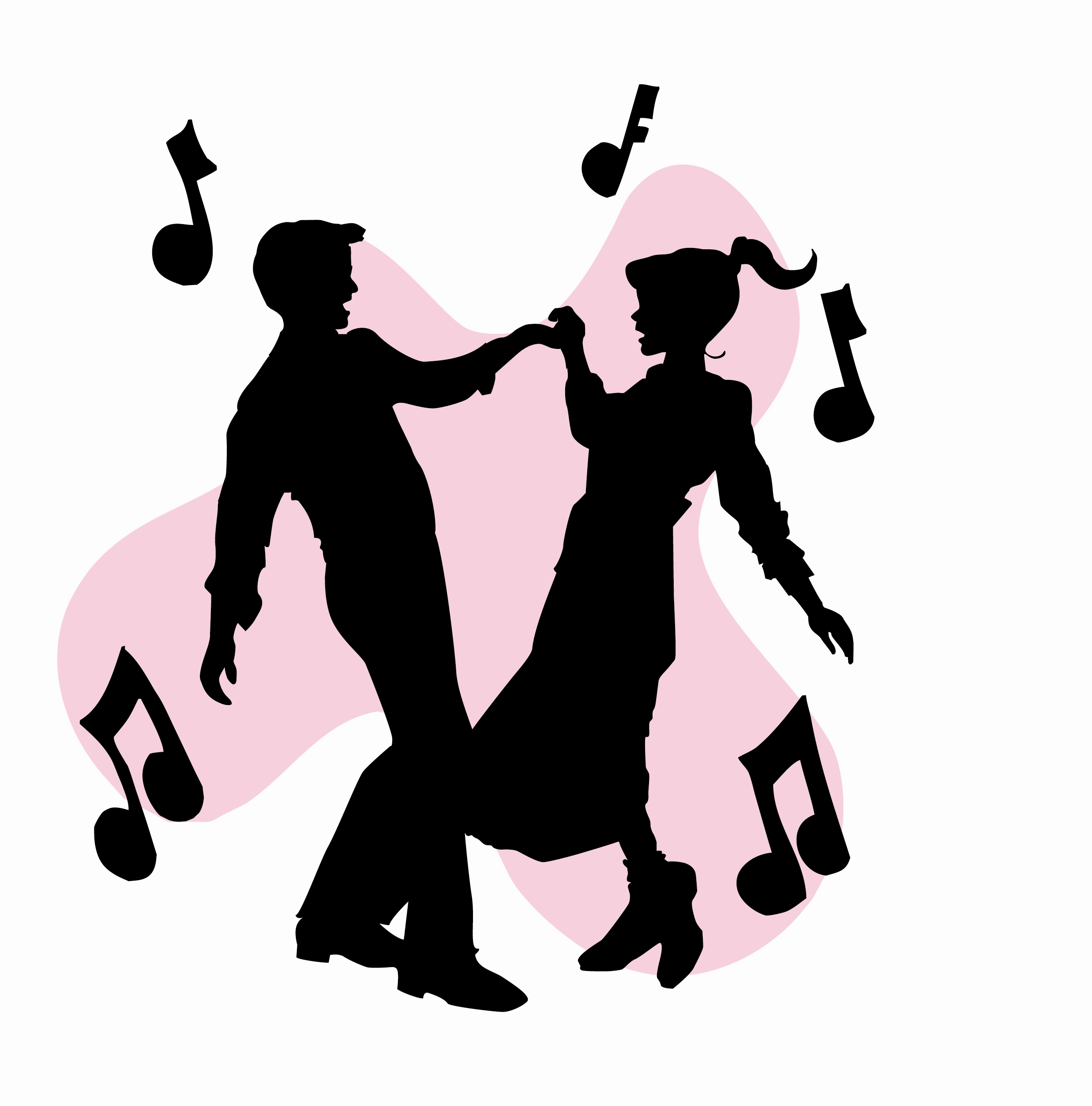 Sock Hop Dance Free Clipart.