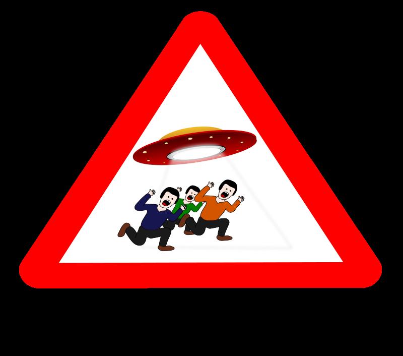Free Clipart: Ufo danger.