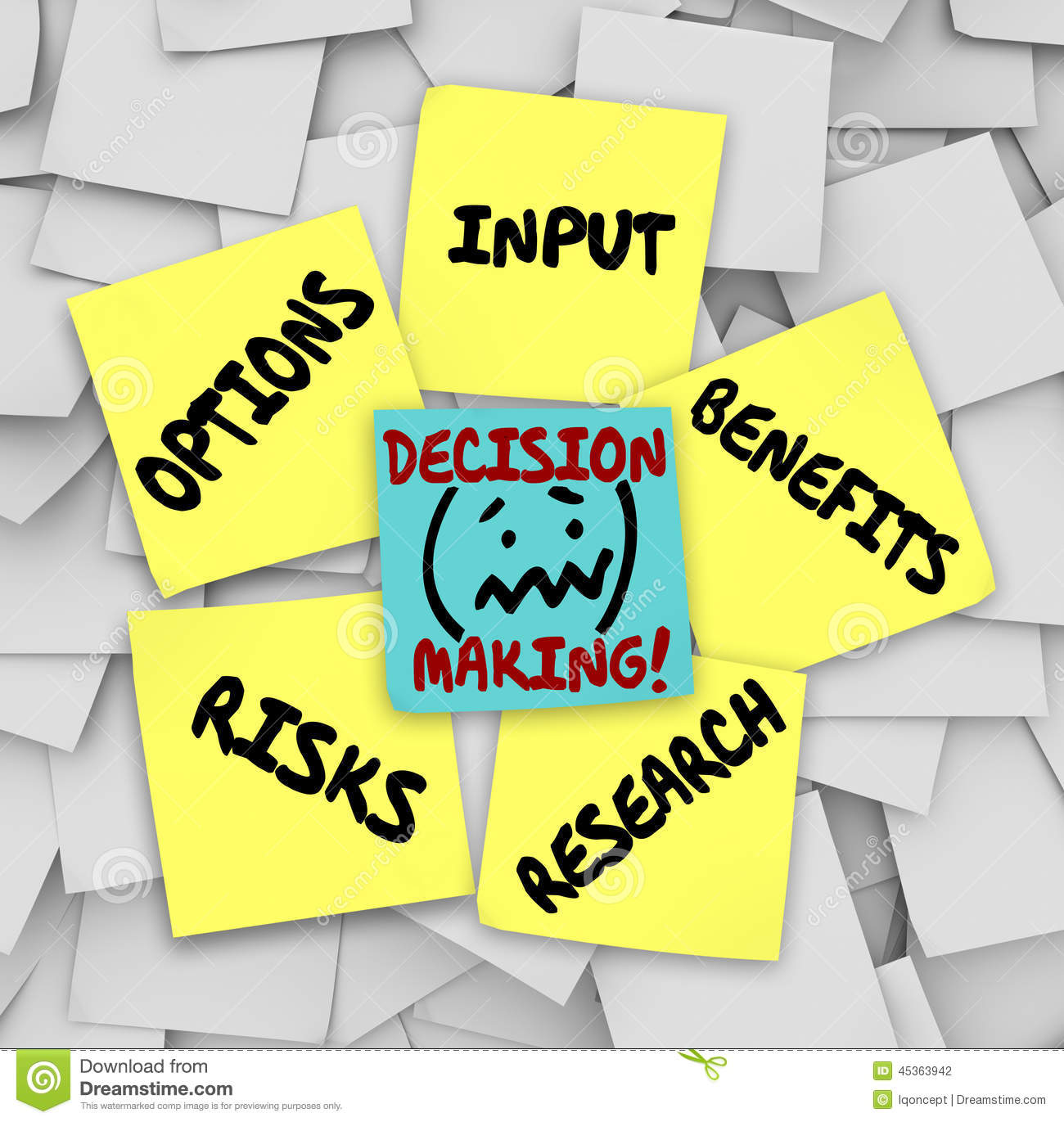 Decision Making Clipart.