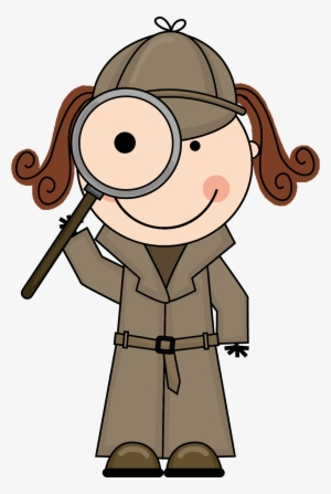 Detective clipart look for clue, Detective look for clue.