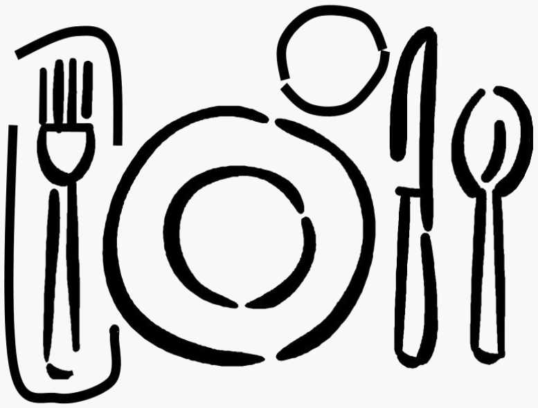 Dinner table clip art free clipart images.