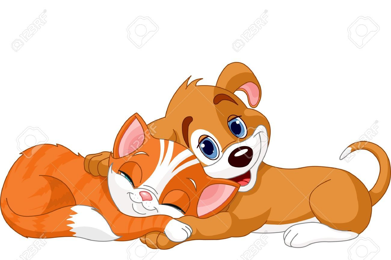 Free clipart dog and cat together 4 » Clipart Portal.