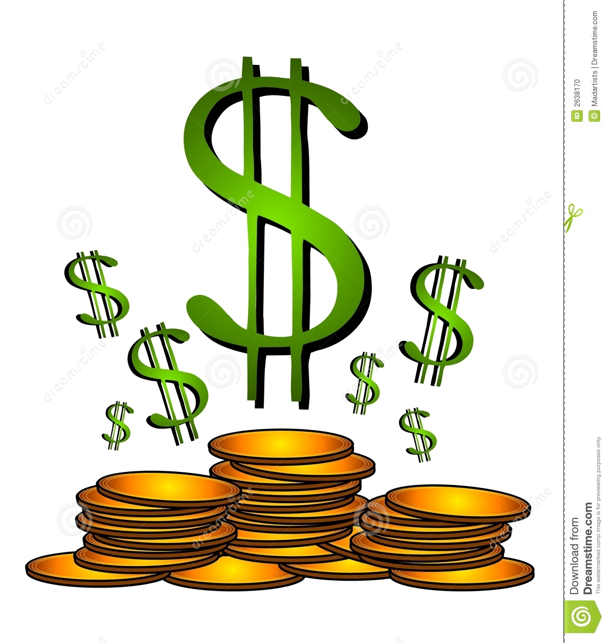 Free Dollar Sign Clipart.