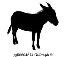 Donkey Silhouette Clip Art.