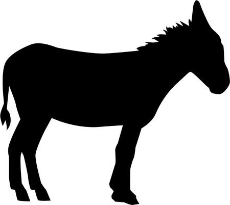 1,279 Donkey Silhouette Stock Vector Illustration And Royalty Free.