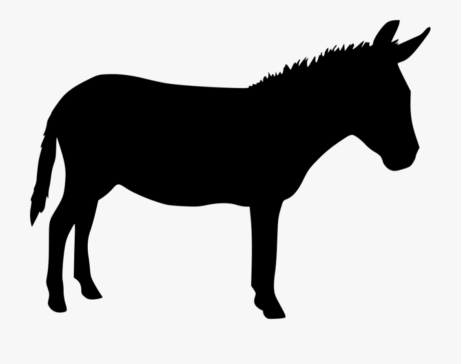 Donkey Silhouette Png.