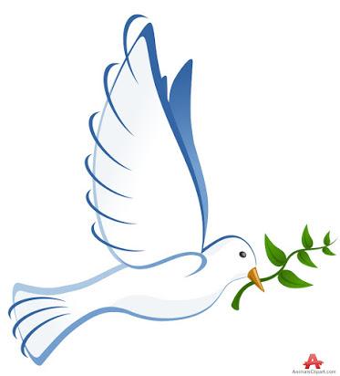 Free clip art peace dove.