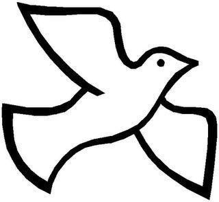 Holy Spirit Dove Clipart Black And White.