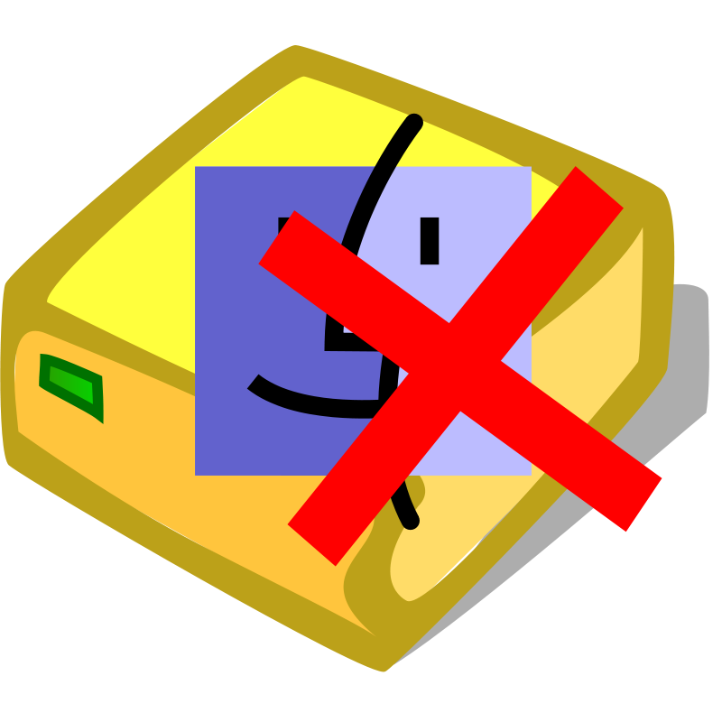 Free Clipart: Hdd mac unmount.