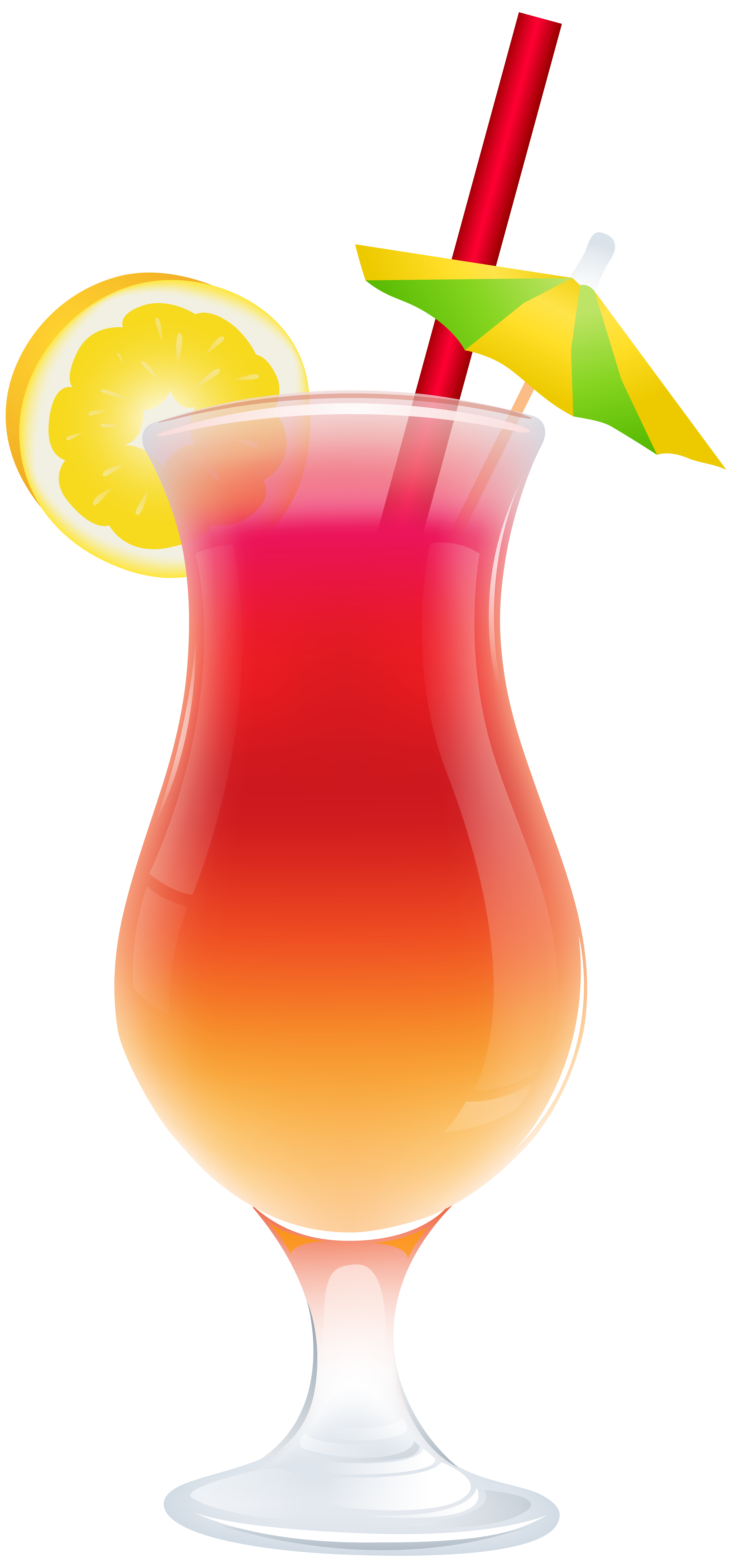 Summer Cocktail PNG Clip Art Image.