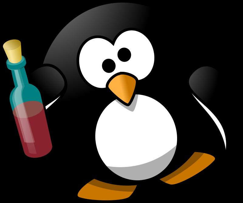Free Clipart: Drunk penguin.
