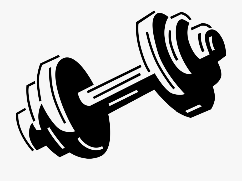 Png Royalty Free Weights Clipart Black And White.