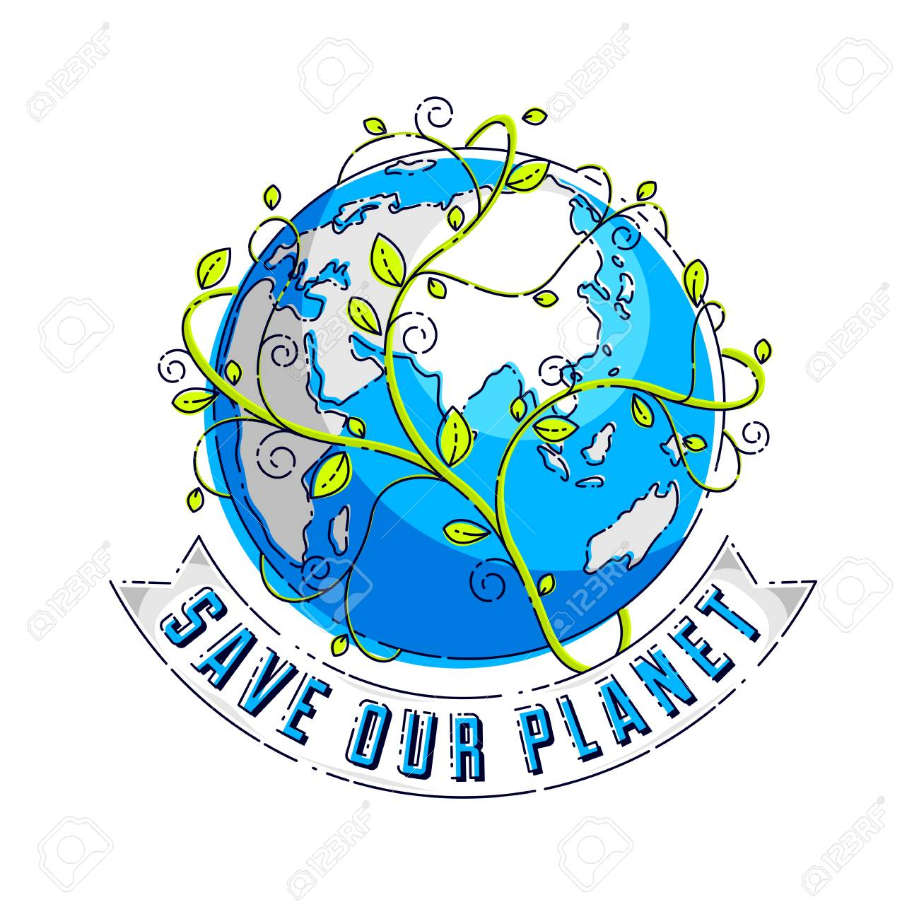 Save Our Planet Concept, Eco Ecology, Earth Climate Changes.
