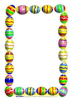 Easter Egg Border Clipart.