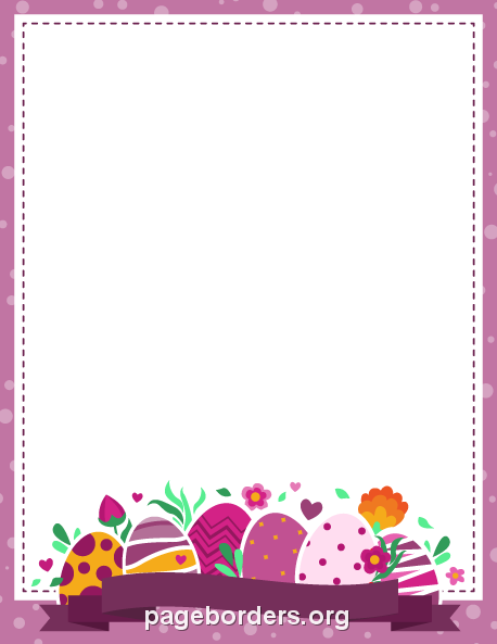 Free Easter Borders: Clip Art, Page Borders, and Vector Graphics.