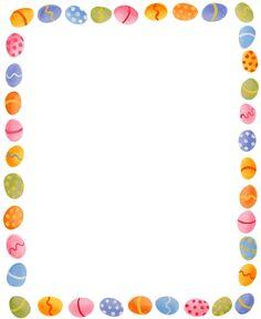 Printable Easter egg border. Free GIF, JPG, PDF, and PNG downloads.