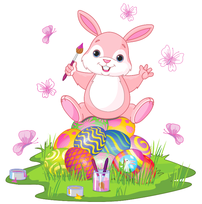 Easter Bunny Pink Free Clipart.