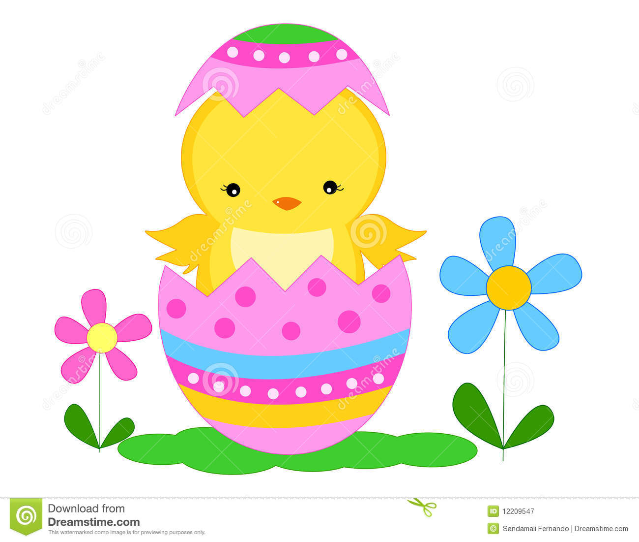 Easter chick stock vector. Illustration of dyed, decorative.