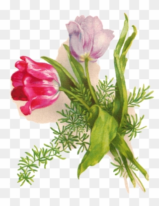 Free PNG Easter Flowers Clip Art Download.