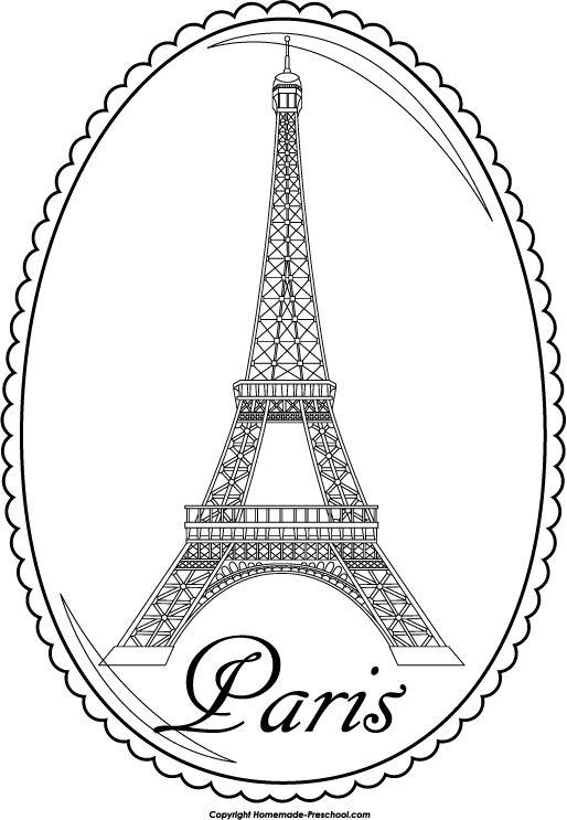 Eiffel Tower Cartoon.